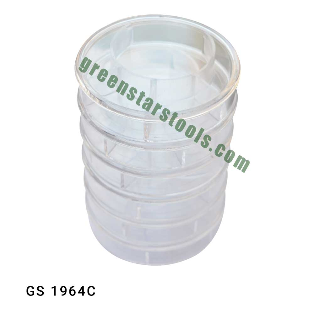 STACKABLE PLASTIC CONTAINERS  SET OF 6
